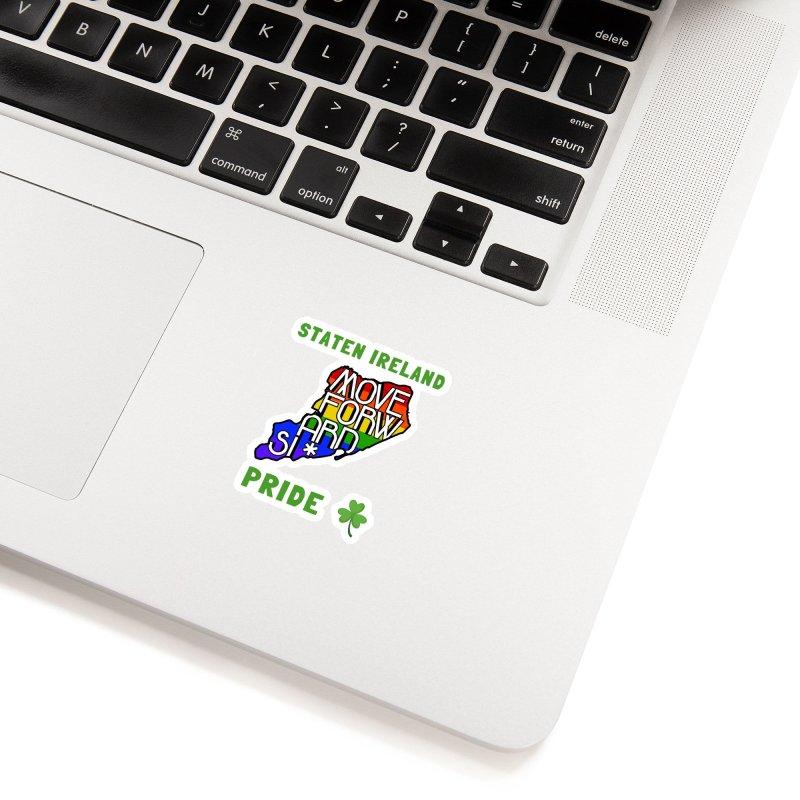 Staten Ireland Pride Accessories Sticker by moveforwardsi's Artist Shop