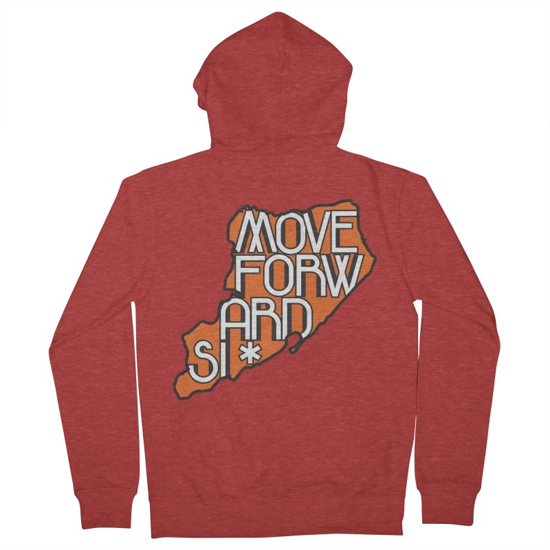 Move Forward Staten Island Men's French Terry Zip-Up Hoody by moveforwardsi's Artist Shop