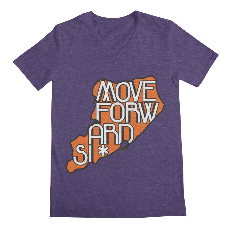 Move Forward Staten Island Men's Regular V-Neck by moveforwardsi's Artist Shop