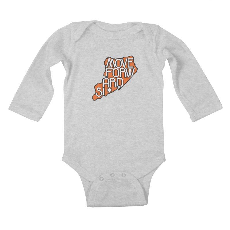 Move Forward Staten Island Kids Baby Longsleeve Bodysuit by moveforwardsi's Artist Shop