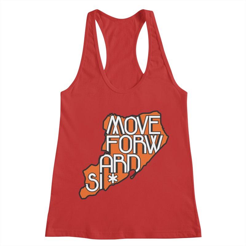 Move Forward Staten Island Women's Racerback Tank by moveforwardsi's Artist Shop