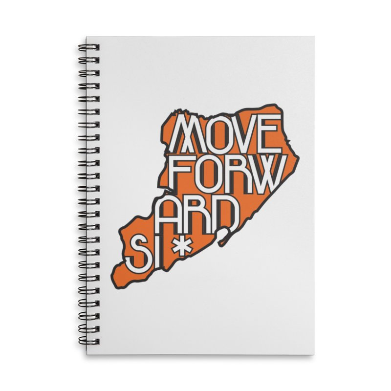 Move Forward Staten Island Accessories Lined Spiral Notebook by moveforwardsi's Artist Shop