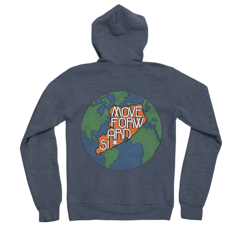 Love Our Island Women's Sponge Fleece Zip-Up Hoody by moveforwardsi's Artist Shop