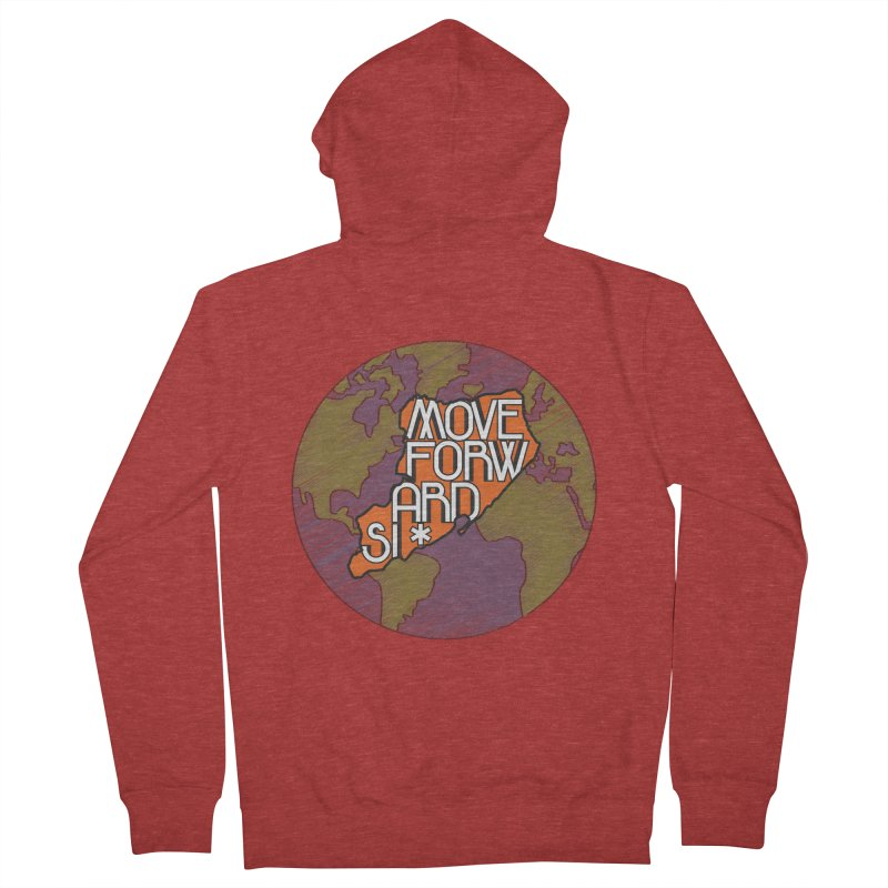 Love Our Island Men's French Terry Zip-Up Hoody by moveforwardsi's Artist Shop