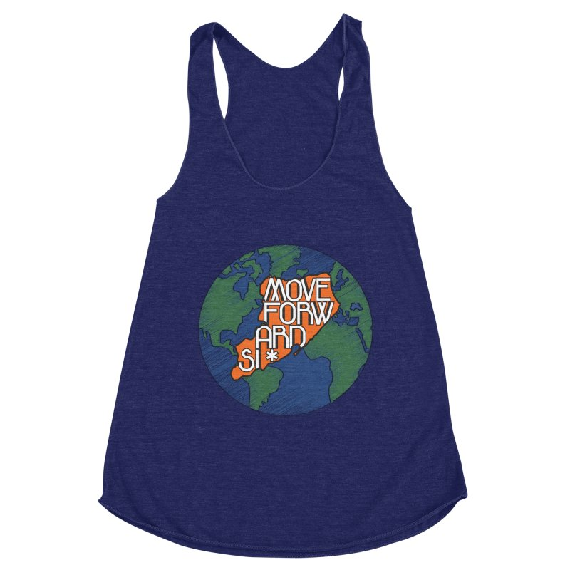 Love Our Island Women's Racerback Triblend Tank by moveforwardsi's Artist Shop