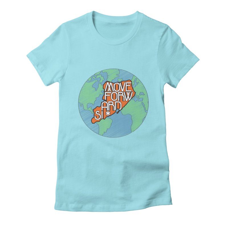 Love Our Island Women's Fitted T-Shirt by moveforwardsi's Artist Shop
