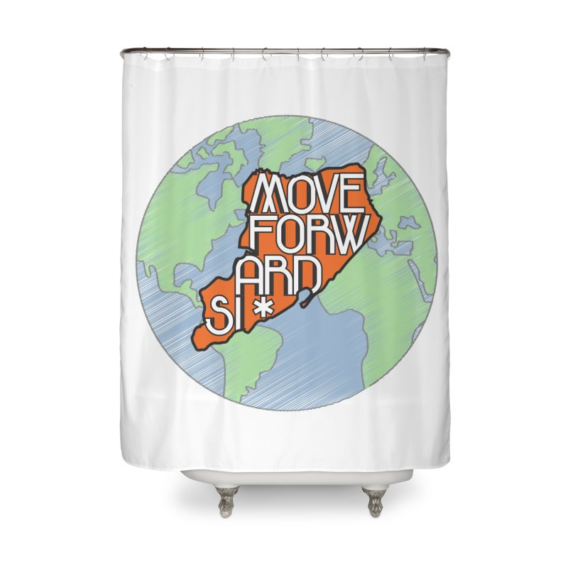 Love Our Island Home Shower Curtain by moveforwardsi's Artist Shop