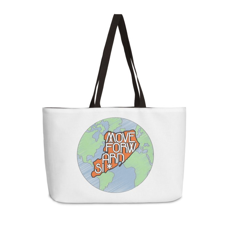 Love Our Island Accessories Weekender Bag Bag by moveforwardsi's Artist Shop