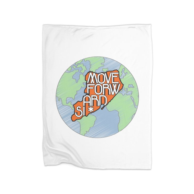 Love Our Island Home Fleece Blanket Blanket by moveforwardsi's Artist Shop
