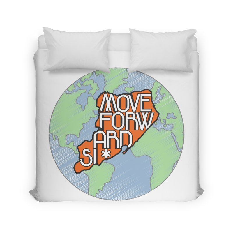 Love Our Island Home Duvet by moveforwardsi's Artist Shop