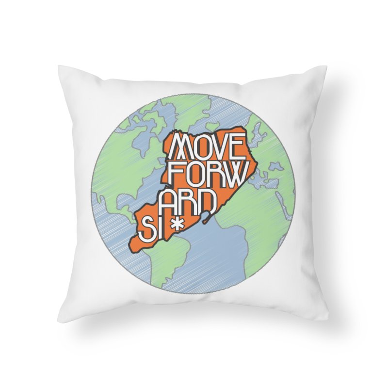 Love Our Island Home Throw Pillow by moveforwardsi's Artist Shop
