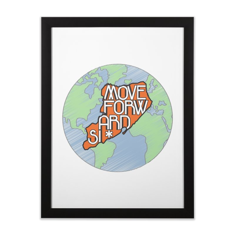 Love Our Island Home Framed Fine Art Print by moveforwardsi's Artist Shop
