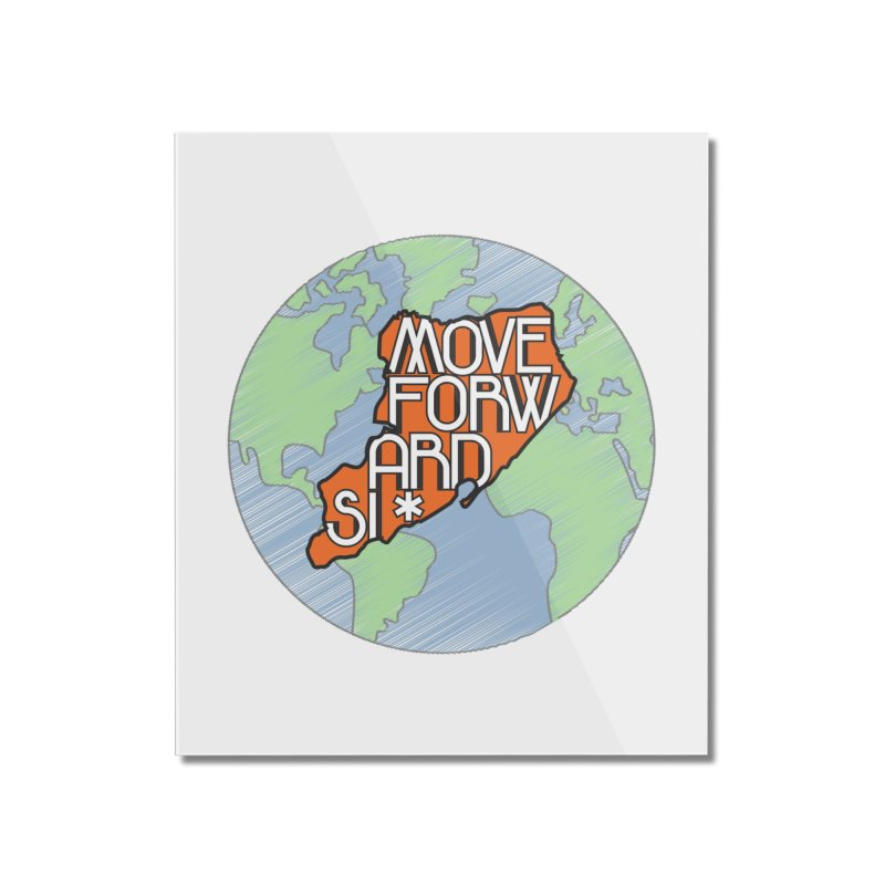 Love Our Island Home Mounted Acrylic Print by moveforwardsi's Artist Shop
