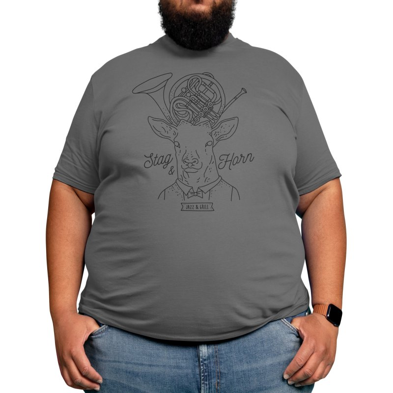 Stag & Horn Men's T-Shirt by movepencilmove's Artist Shop