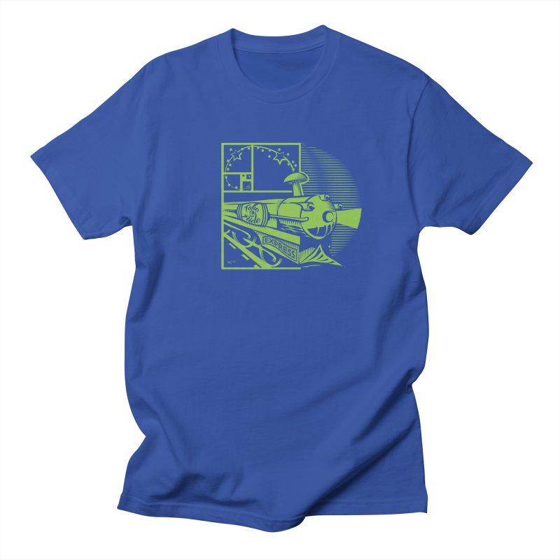 Green Express Men's T-Shirt by moxie's Artist Shop