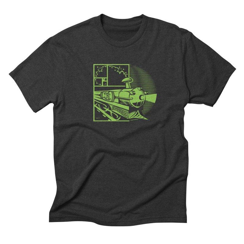 Green Express Men's Triblend T-Shirt by moxie's Artist Shop