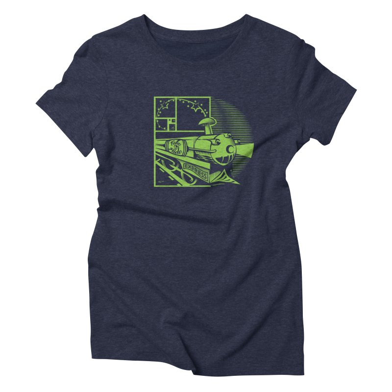 Green Express Women's Triblend T-Shirt by moxie's Artist Shop