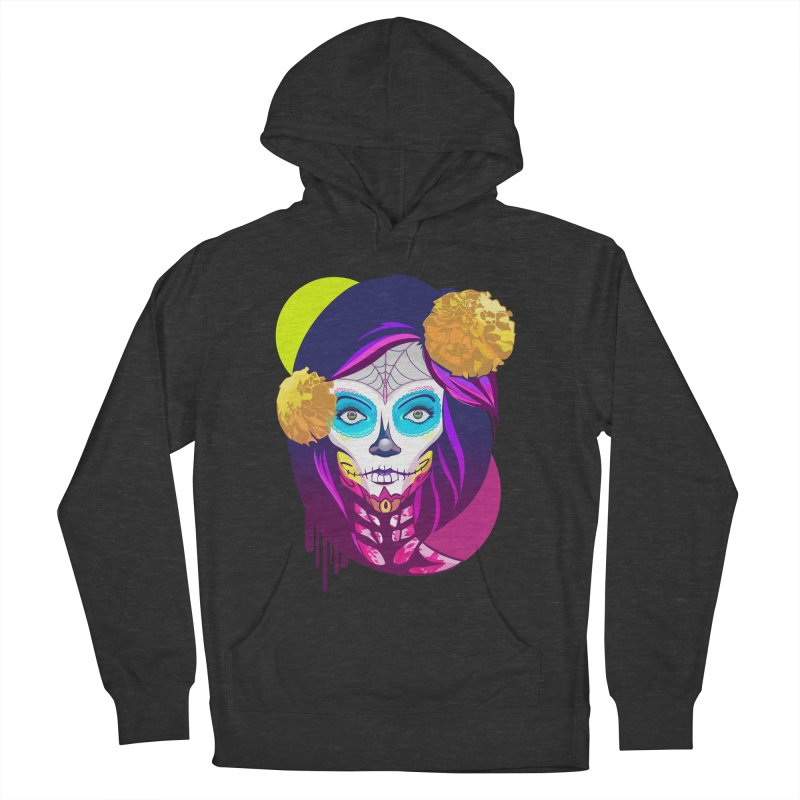 Lady Catrina: Day of Dead Women's French Terry Pullover Hoody by moyart's Artist Shop