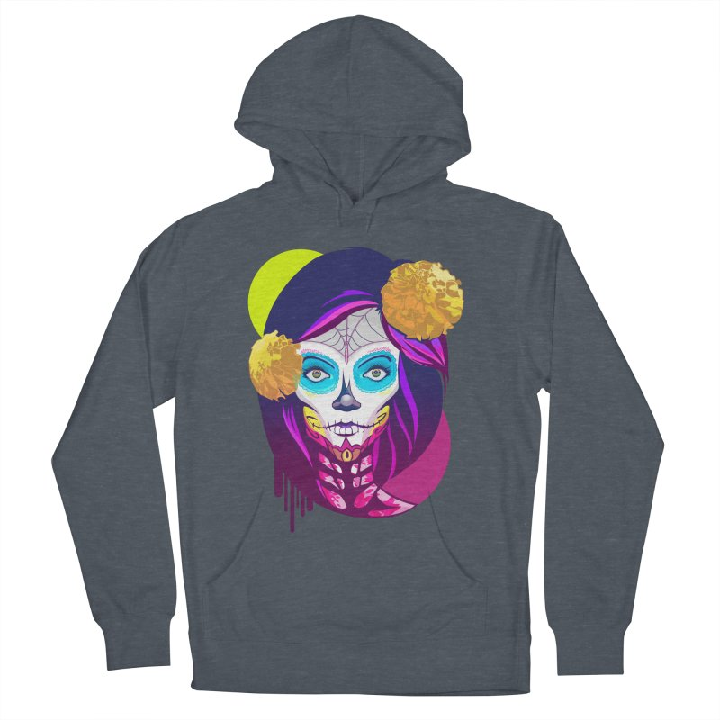 Lady Catrina: Day of Dead Men's French Terry Pullover Hoody by moyart's Artist Shop