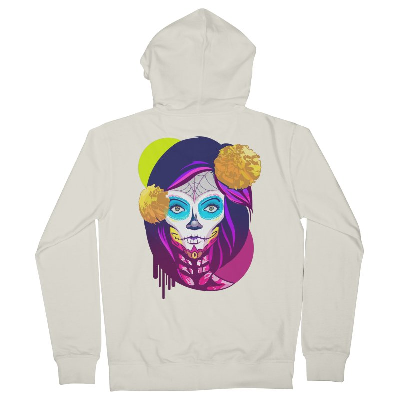 Lady Catrina: Day of Dead Men's Zip-Up Hoody by moyart's Artist Shop