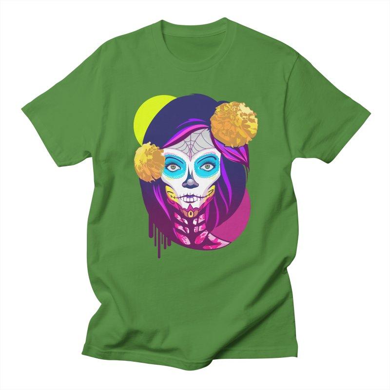 Lady Catrina: Day of Dead Men's Regular T-Shirt by moyart's Artist Shop