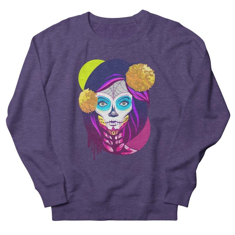 Lady Catrina: Day of Dead Men's French Terry Sweatshirt by moyart's Artist Shop