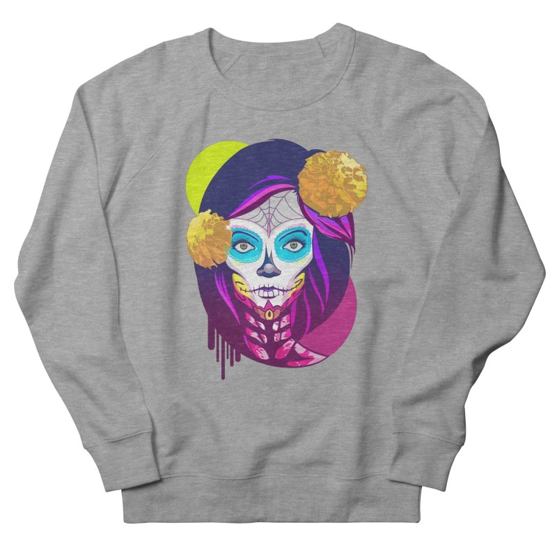 Lady Catrina: Day of Dead Men's Sweatshirt by moyart's Artist Shop