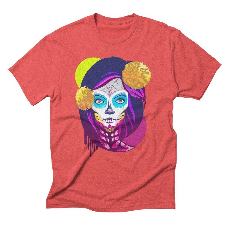 Lady Catrina: Day of Dead Men's Triblend T-Shirt by moyart's Artist Shop