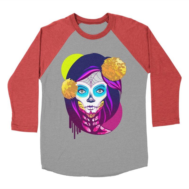 Lady Catrina: Day of Dead Women's Baseball Triblend Longsleeve T-Shirt by moyart's Artist Shop