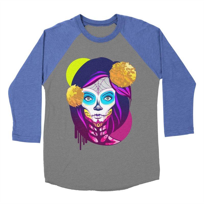 Lady Catrina: Day of Dead Men's Baseball Triblend Longsleeve T-Shirt by moyart's Artist Shop