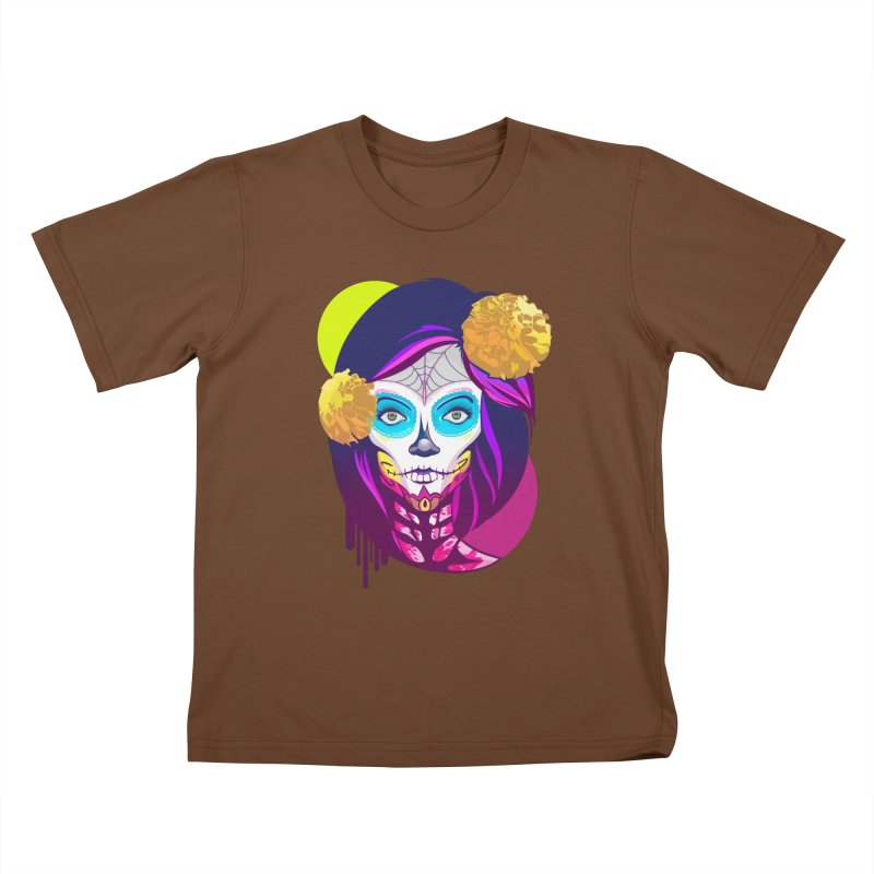 Lady Catrina: Day of Dead Kids T-Shirt by moyart's Artist Shop