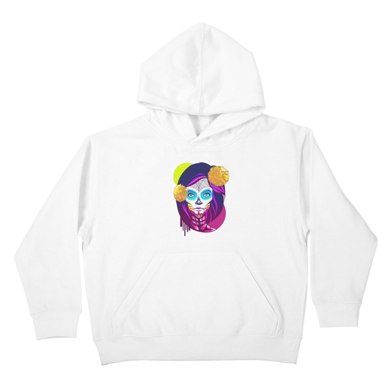 Lady Catrina: Day of Dead Kids Pullover Hoody by moyart's Artist Shop