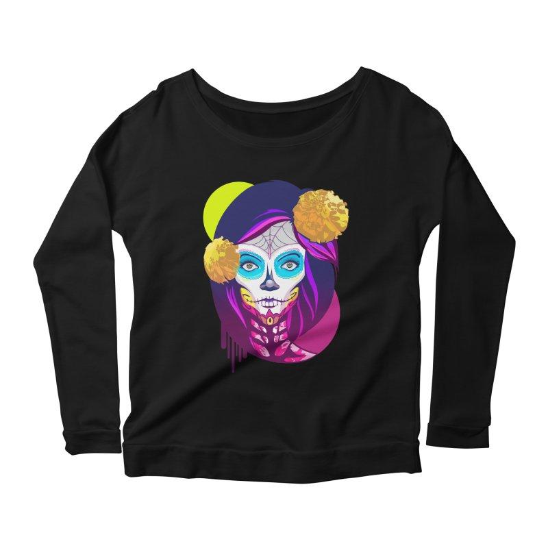 Lady Catrina: Day of Dead Women's Scoop Neck Longsleeve T-Shirt by moyart's Artist Shop