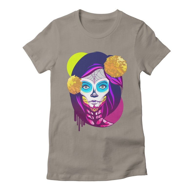 Lady Catrina: Day of Dead Women's Fitted T-Shirt by moyart's Artist Shop