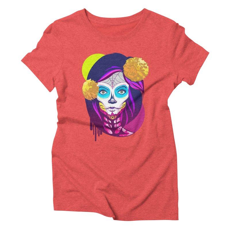 Lady Catrina: Day of Dead Women's Triblend T-shirt by moyart's Artist Shop