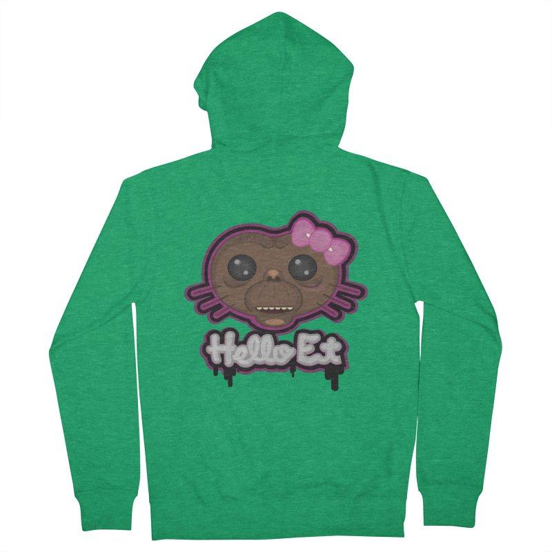 Hello E.T. Men's Zip-Up Hoody by moyart's Artist Shop