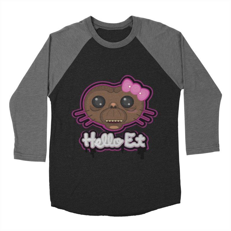 Hello E.T. Men's Baseball Triblend Longsleeve T-Shirt by moyart's Artist Shop