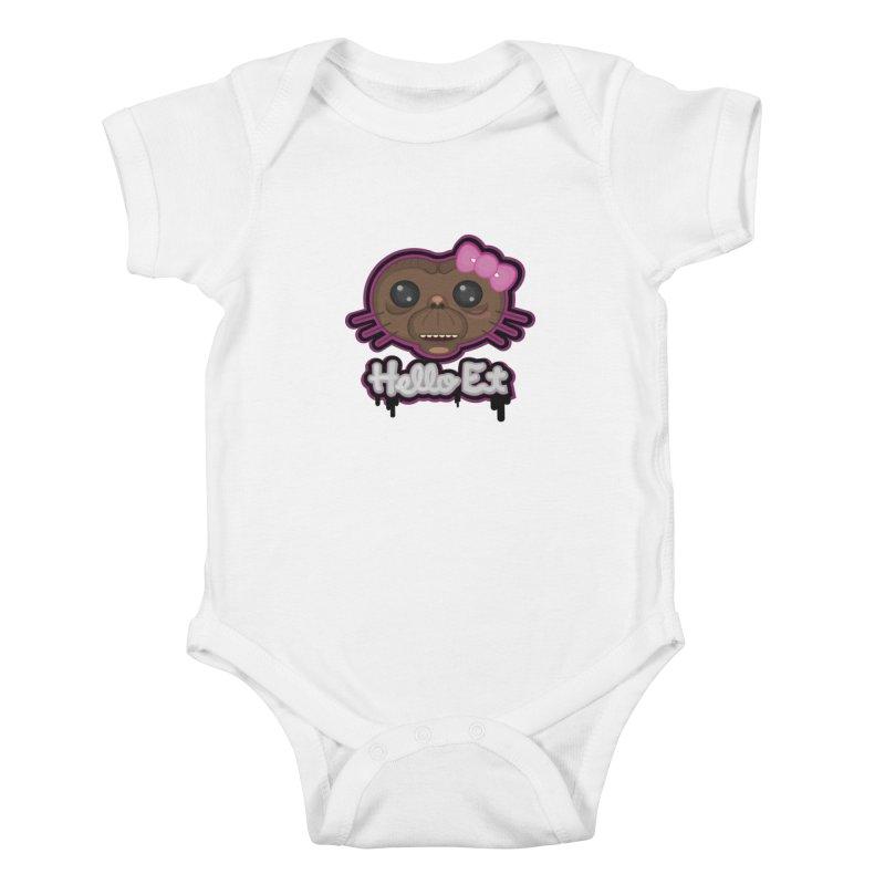 Hello E.T. Kids Baby Bodysuit by moyart's Artist Shop