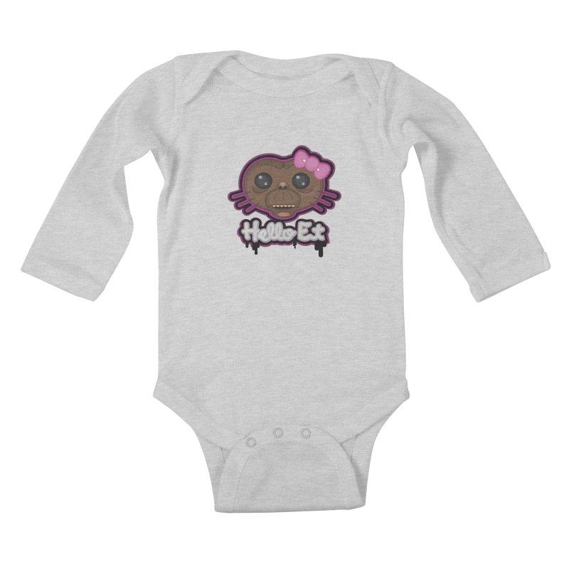Hello E.T. Kids Baby Longsleeve Bodysuit by moyart's Artist Shop