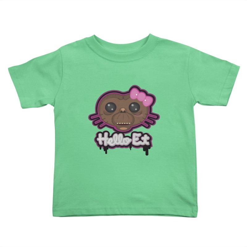 Hello E.T. Kids Toddler T-Shirt by moyart's Artist Shop