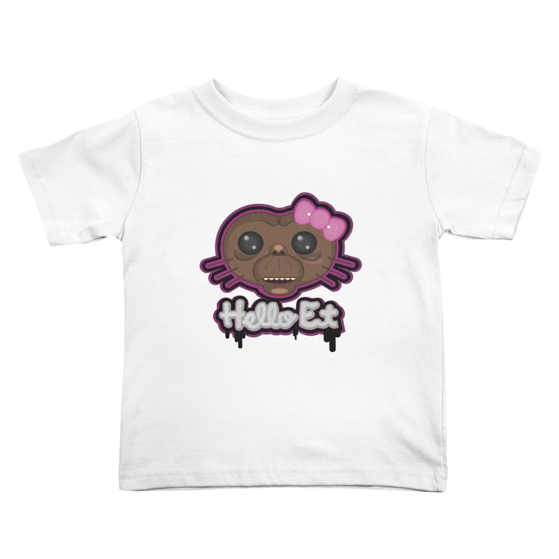 Hello E.T. Kids Toddler T-Shirt by moyart's Artist Shop