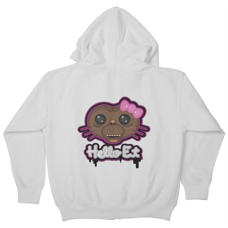 Hello E.T. Kids Zip-Up Hoody by moyart's Artist Shop