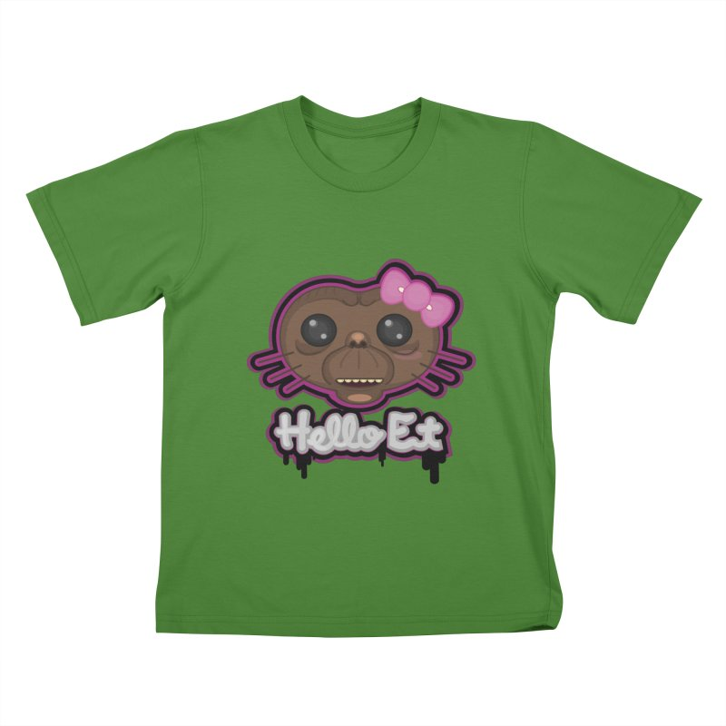 Hello E.T. Kids T-Shirt by moyart's Artist Shop
