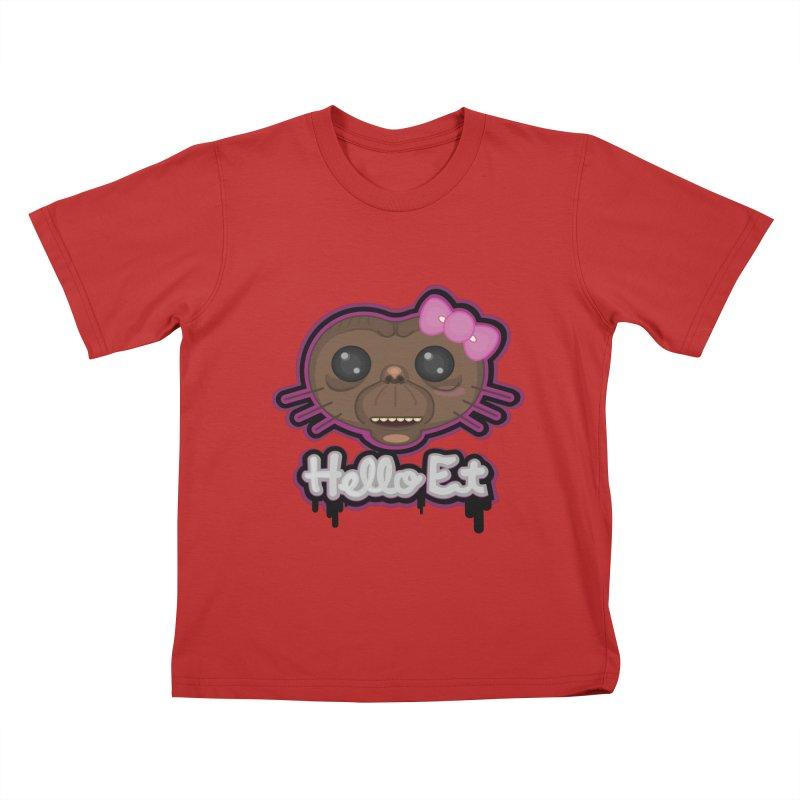 Hello E.T. Kids T-Shirt by moyart's Artist Shop