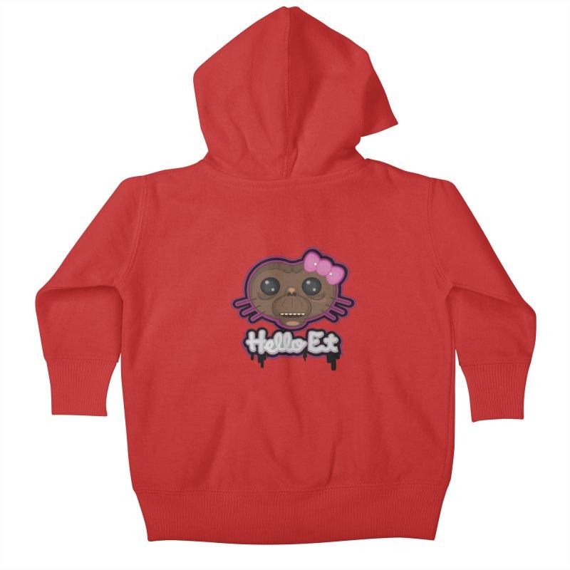 Hello E.T. Kids Baby Zip-Up Hoody by moyart's Artist Shop