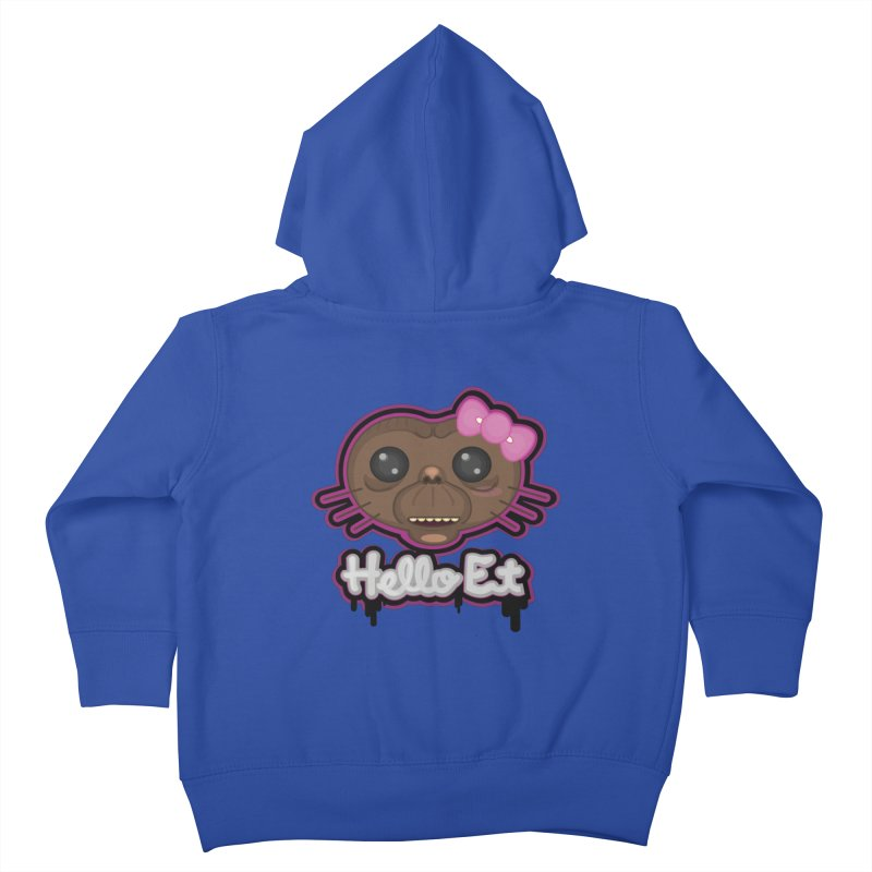 Hello E.T. Kids Toddler Zip-Up Hoody by moyart's Artist Shop