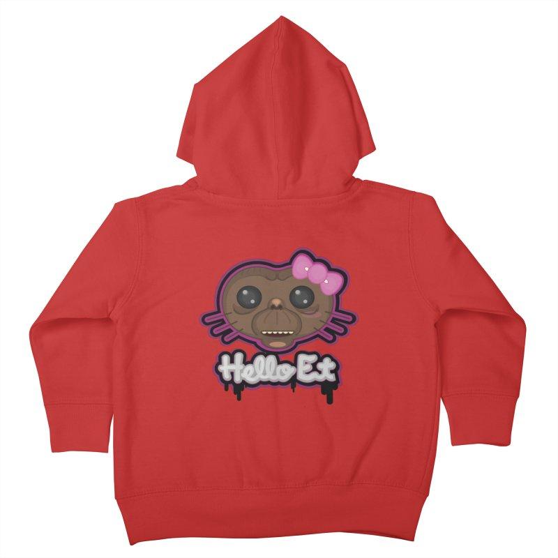 Hello E.T. Kids Toddler Zip-Up Hoody by moyart's Artist Shop