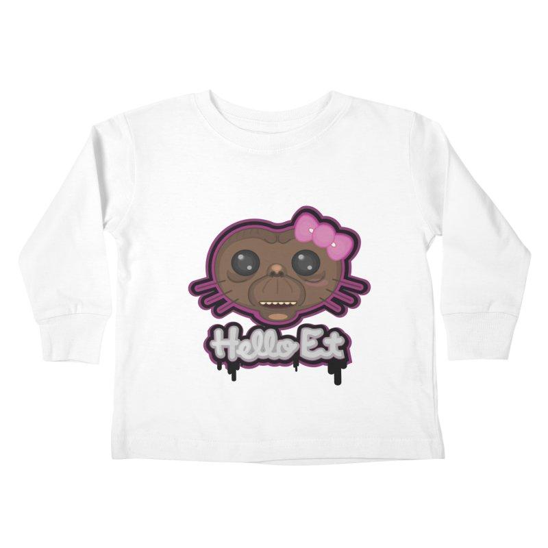 Hello E.T. Kids Toddler Longsleeve T-Shirt by moyart's Artist Shop