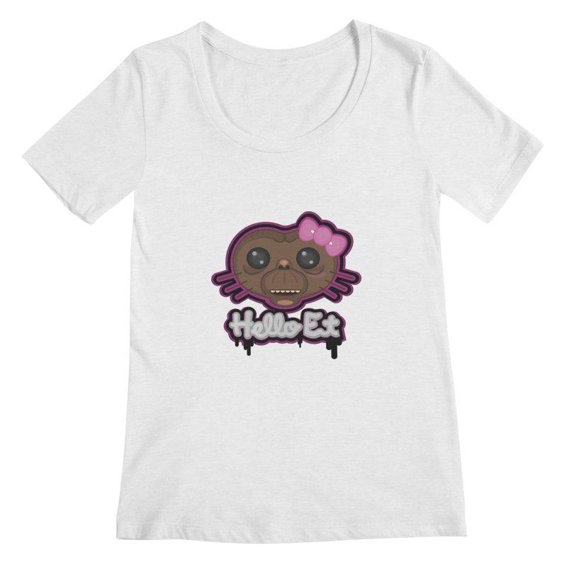 Hello E.T. Women's Scoop Neck by moyart's Artist Shop