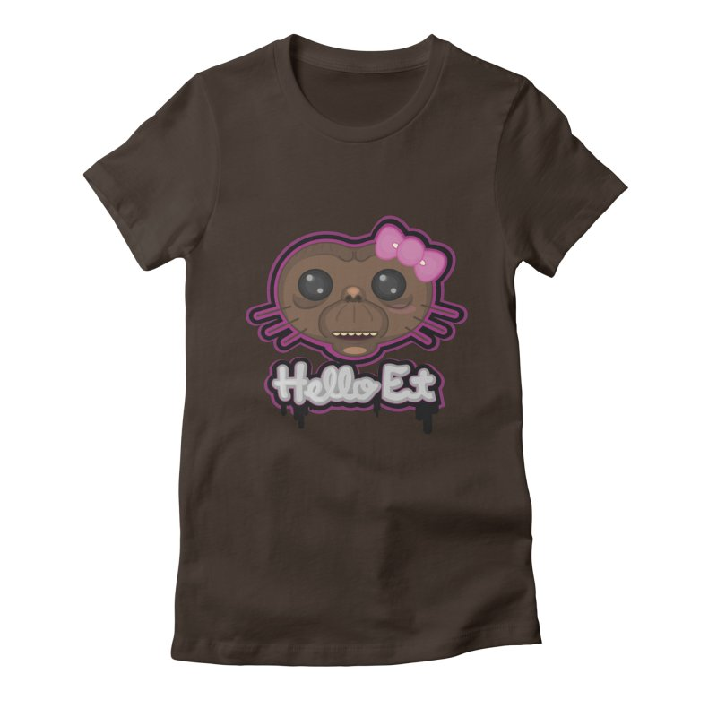 Hello E.T. Women's Fitted T-Shirt by moyart's Artist Shop